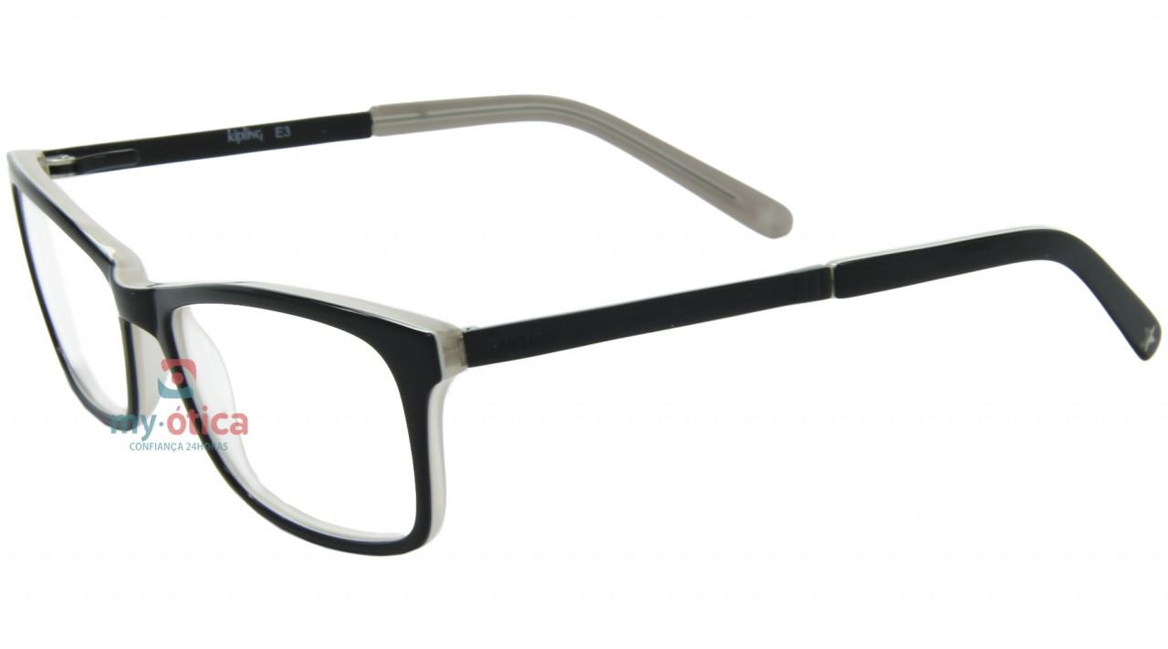 f8a960dd2 Óculos de Grau Kipling KP3027 - Preto e Bege - Óculos - Kipling ...