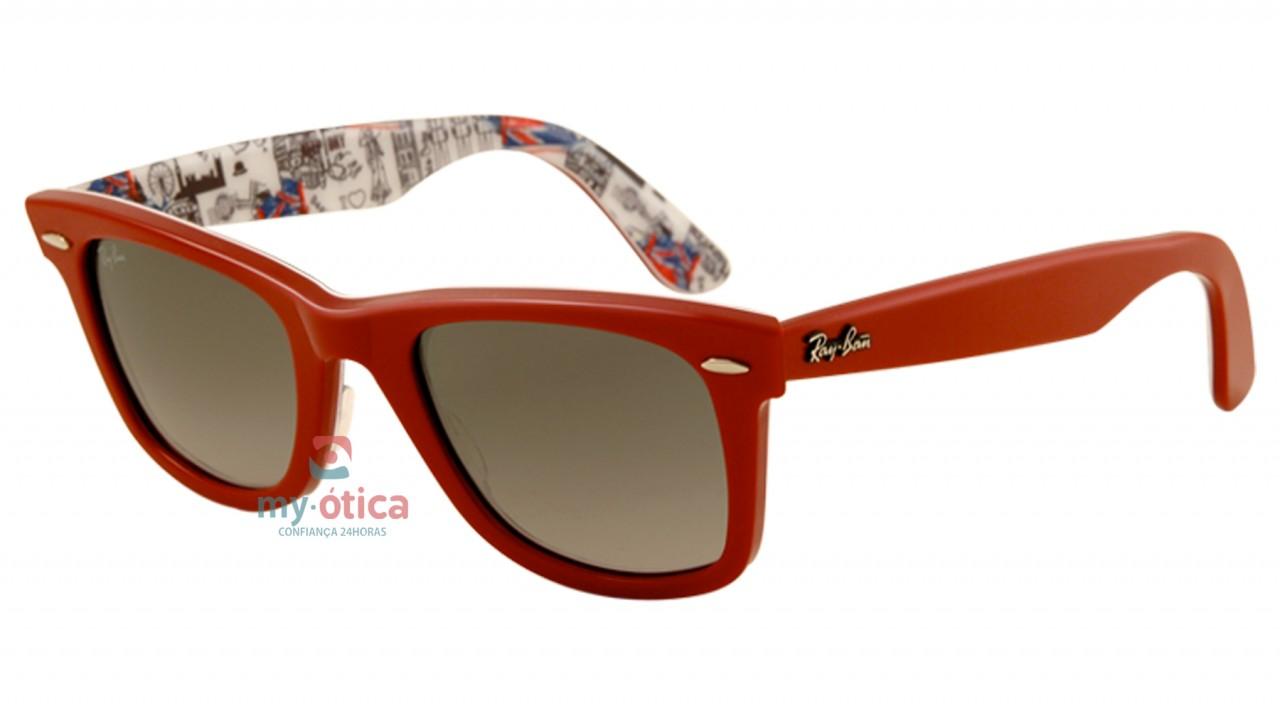 4605eaff9ccae Óculos de Sol Ray Ban ORIGINAL WAYFARER LONDRES - Série Especial  8 -  Vermelho e Londres