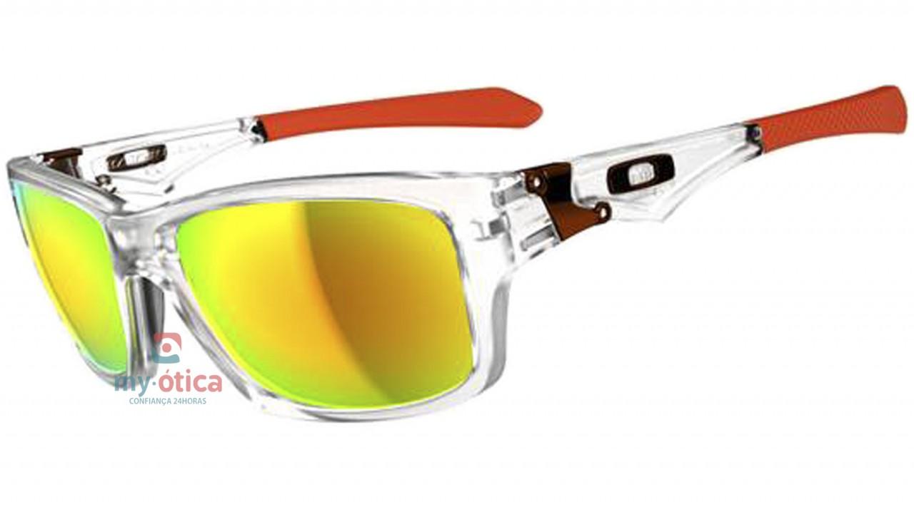 baa32215ad022 Óculos de Sol Oakley Jupiter Squared - Transparente e Laranja ...