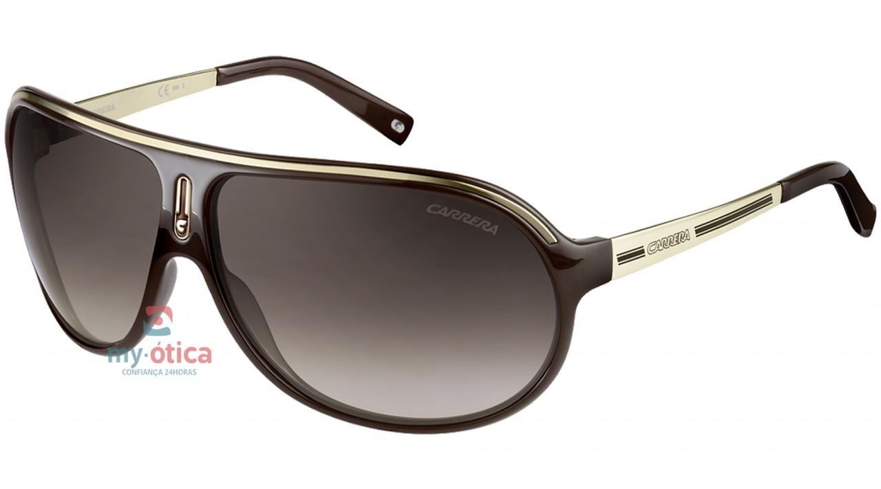 e7705624786c0 Óculos de Sol Carrera RUSH - Marrom e Dourado - Loja Virtual My ...
