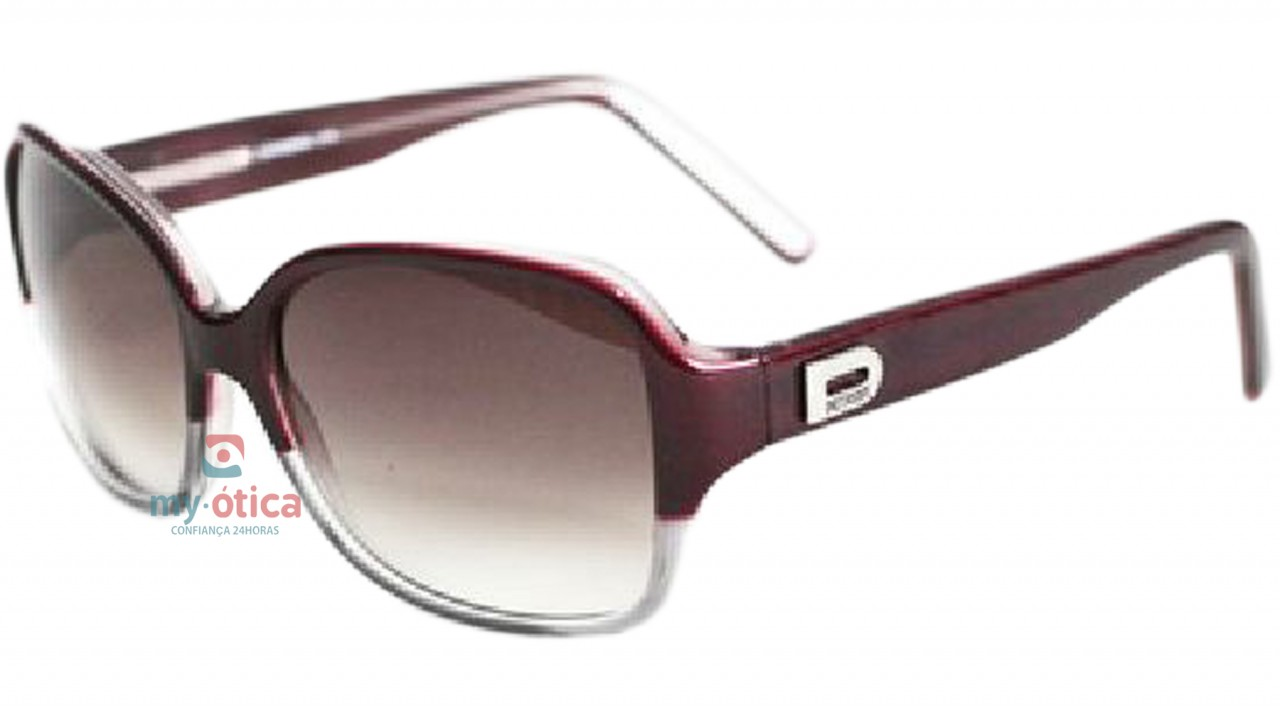 1e5343dc4 Óculos de Sol Detroit Leandra - Transparente e Vinho - Óculos ...