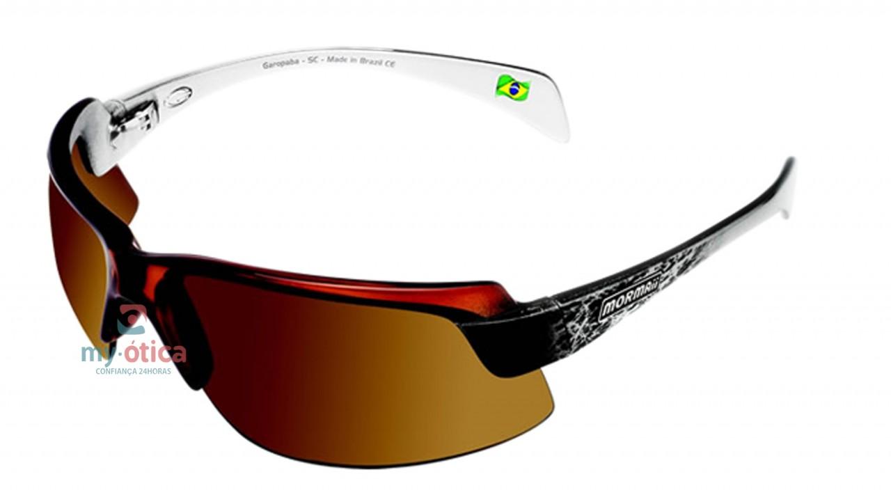 3c7bfa7bd3747 Óculos de Sol Mormaii Gamboa Air II - Marrom e Branco - Óculos ...