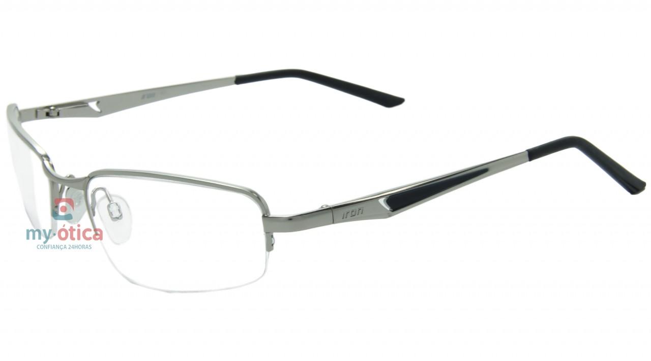 d4fc7c165 Óculos de Grau Iron 1626 - Prata e Preto - Óculos - Iron - Iron de ...
