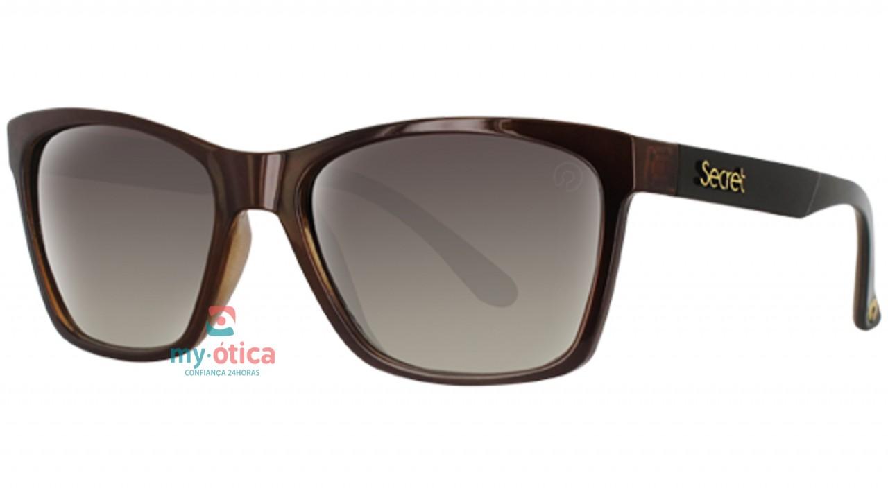 Óculos de Sol Secret Sophia - Marrom e Preto - Óculos - Secret ... afb15f52eb