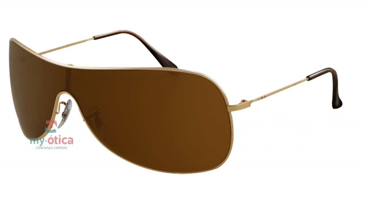 Óculos de Sol Ray Ban RB 3211 Extra Small - Dourado e Marrom ... 0cbffe5c7a