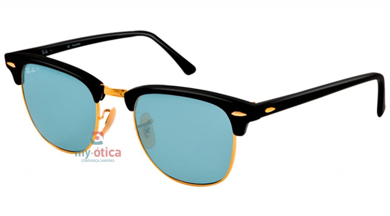 c5c3bb26fd2f2 Oculos Ray Ban Dourado Com Lente Azul   Louisiana Bucket Brigade