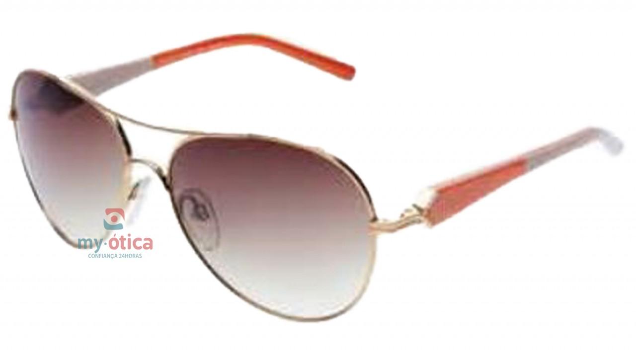 Óculos de Sol Ana Hickmann AH 3090 - Dourado e Laranja - Óculos ... c61bd9ed10