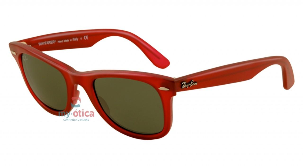 42ee496b5 Óculos de Sol Ray Ban RB 2140 Wayfarer - Vermelho Fosco - Óculos ...