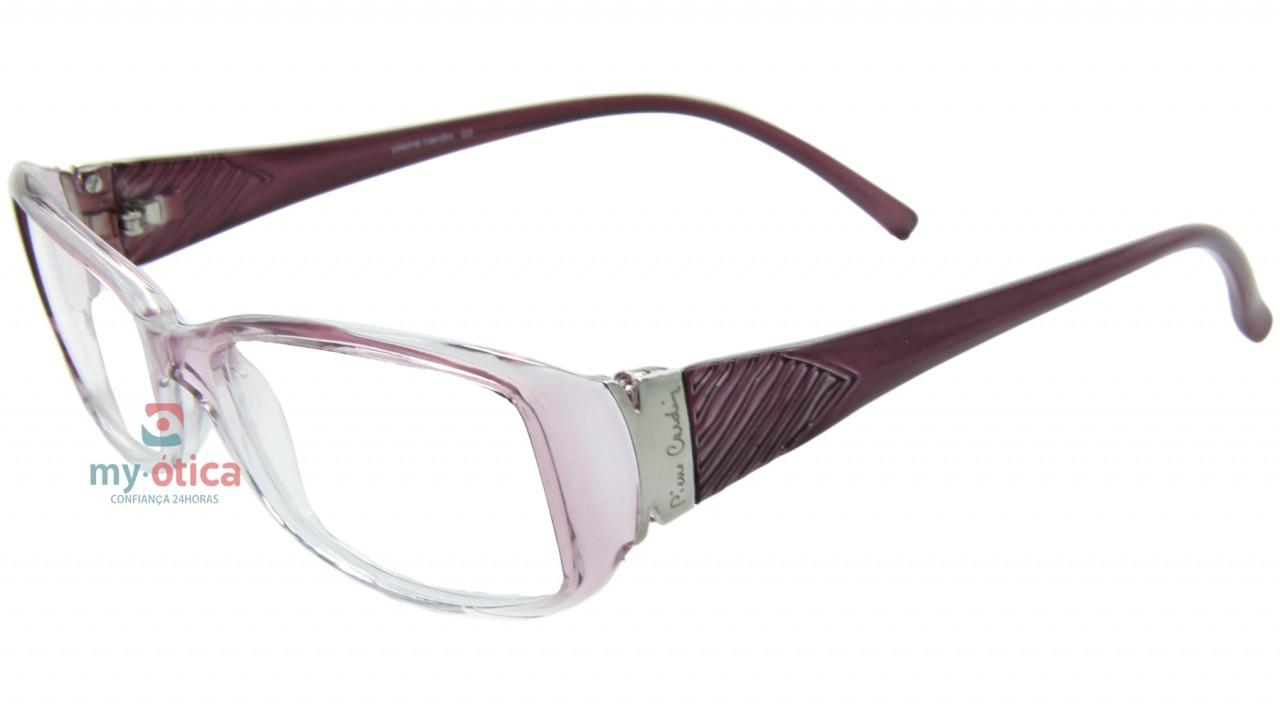ae11291bc Óculos de Grau Pierre Cardin P73034 - Transparente e Rosa - Óculos ...