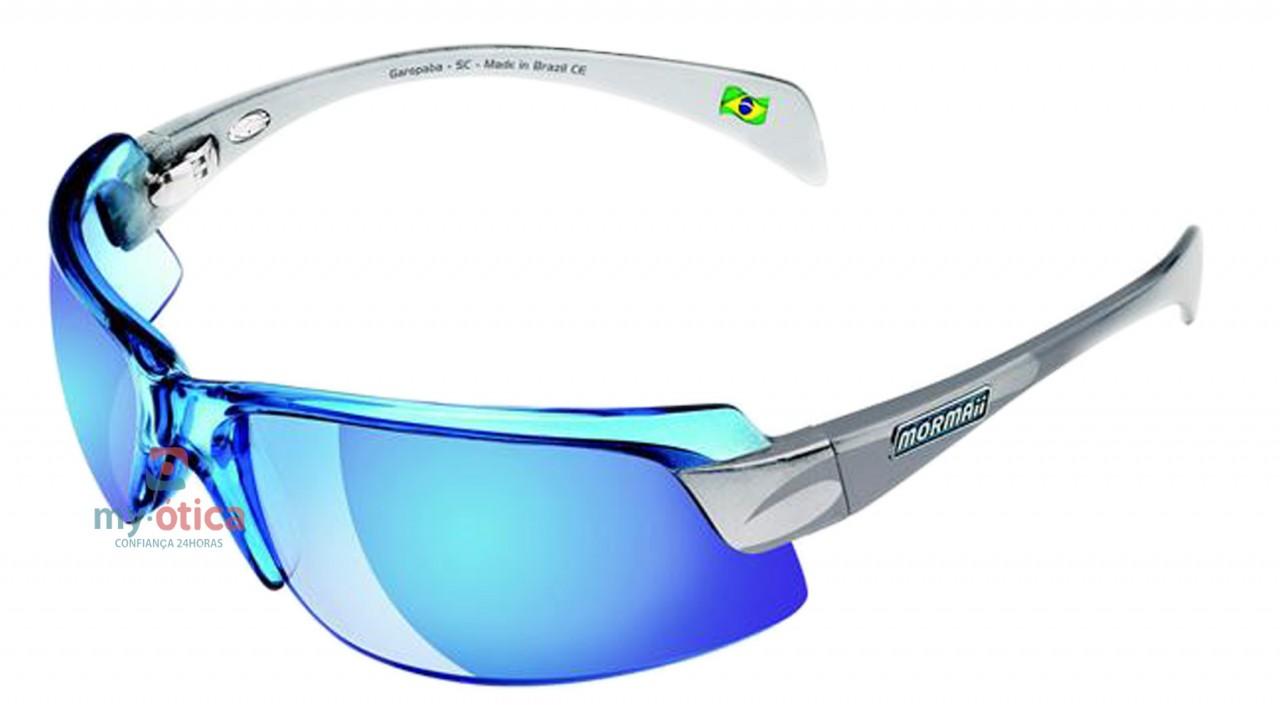d087eedf13dd5 Óculos de Sol Mormaii Gamboa Air II - Azul e Prata - Óculos ...