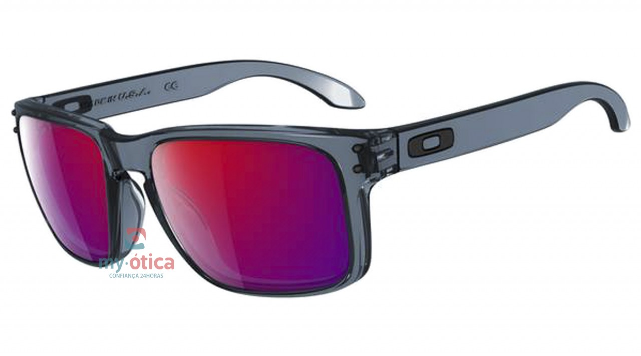 Óculos de Sol Oakley Holbrook - Preto Cristal Lente Vermelha ... c2d18b3506