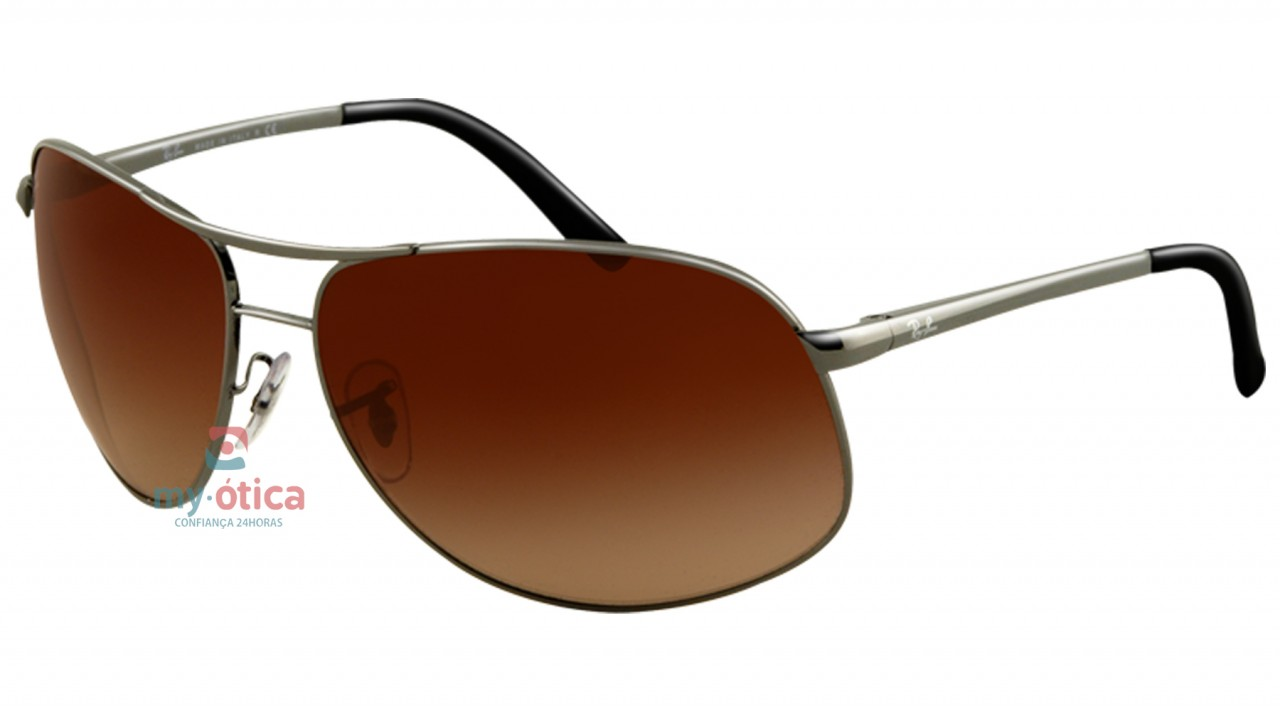 2cbfdb780cf69 Óculos de Sol Ray Ban RB 3387 - Cinza - Óculos - Ray ban - Ray Ban ...