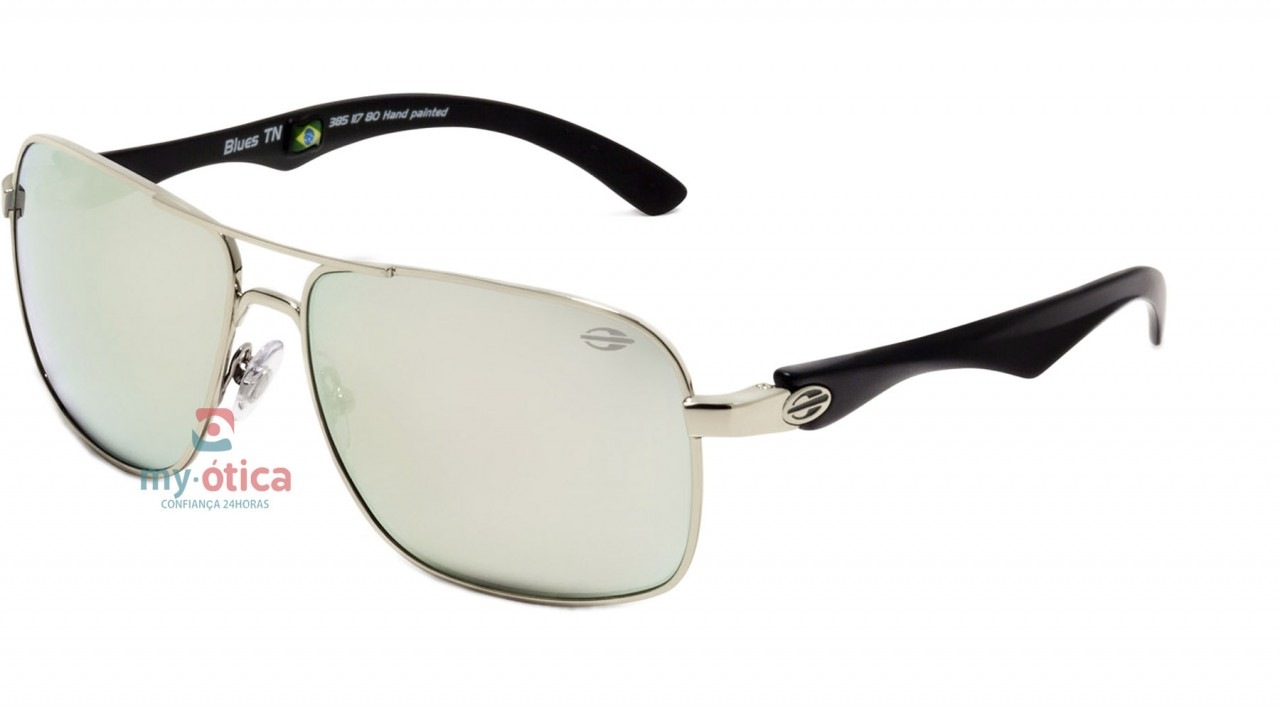 5e949eaa01895 Óculos de Sol Infantil Mormaii BLUES TWENN - Prata e Preto