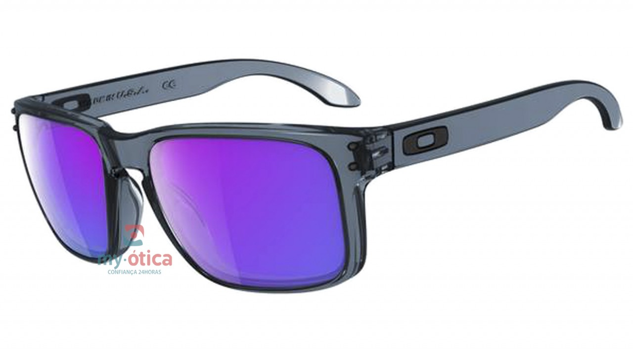 Óculos de Sol Oakley Holbrook - Preto Cristal Lente Roxa - Óculos ... 05ab527ca2