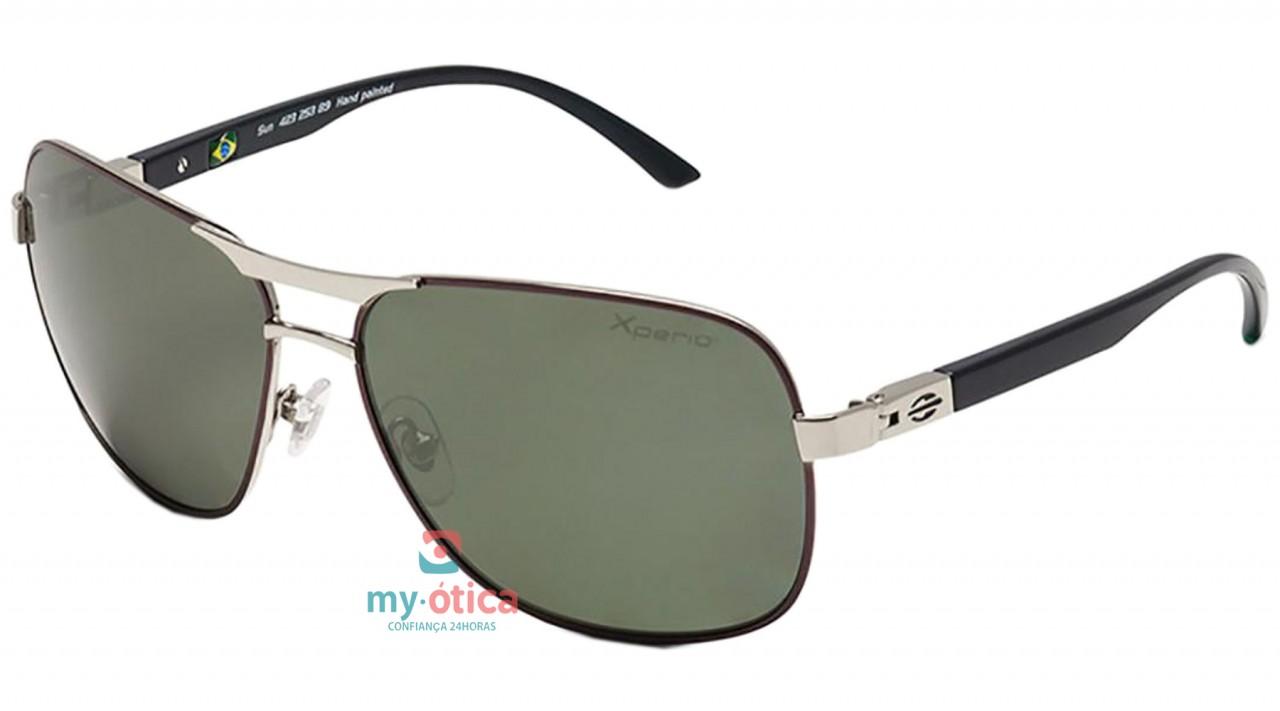 Óculos de Sol Mormaii Sun 423 - Prata e Preto Polarizado - Óculos ... 231d80840d