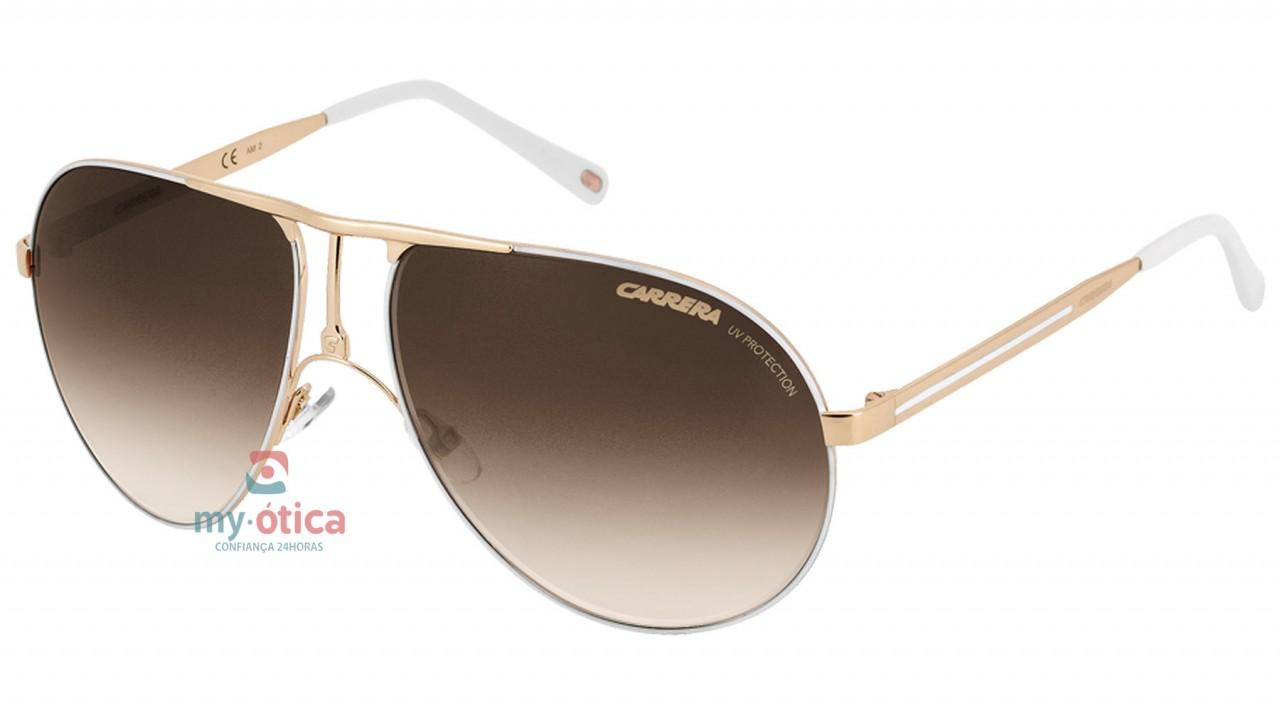 08154ab15a158 Óculos de Sol Carrera CARRERA 1 - Dourado e Branco - Loja Virtual My ...