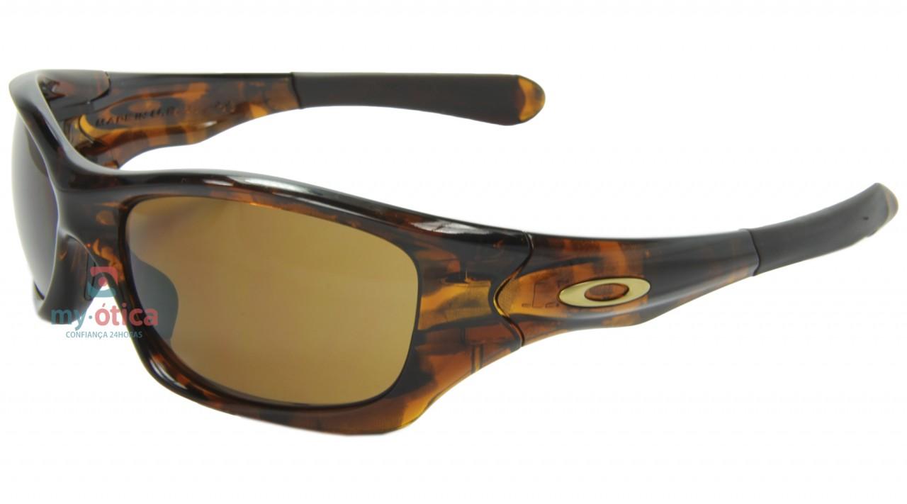 584f2e1d51d65 Óculos de Sol Oakley Pit Bull - Marrom Transparente - Óculos ...