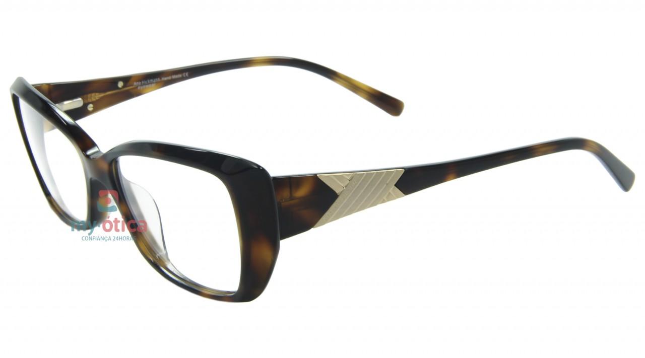 b37e3168f9048 Óculos de Grau Ana Hickmann AH6182 - Havana - Óculos - Ana Hickmann ...