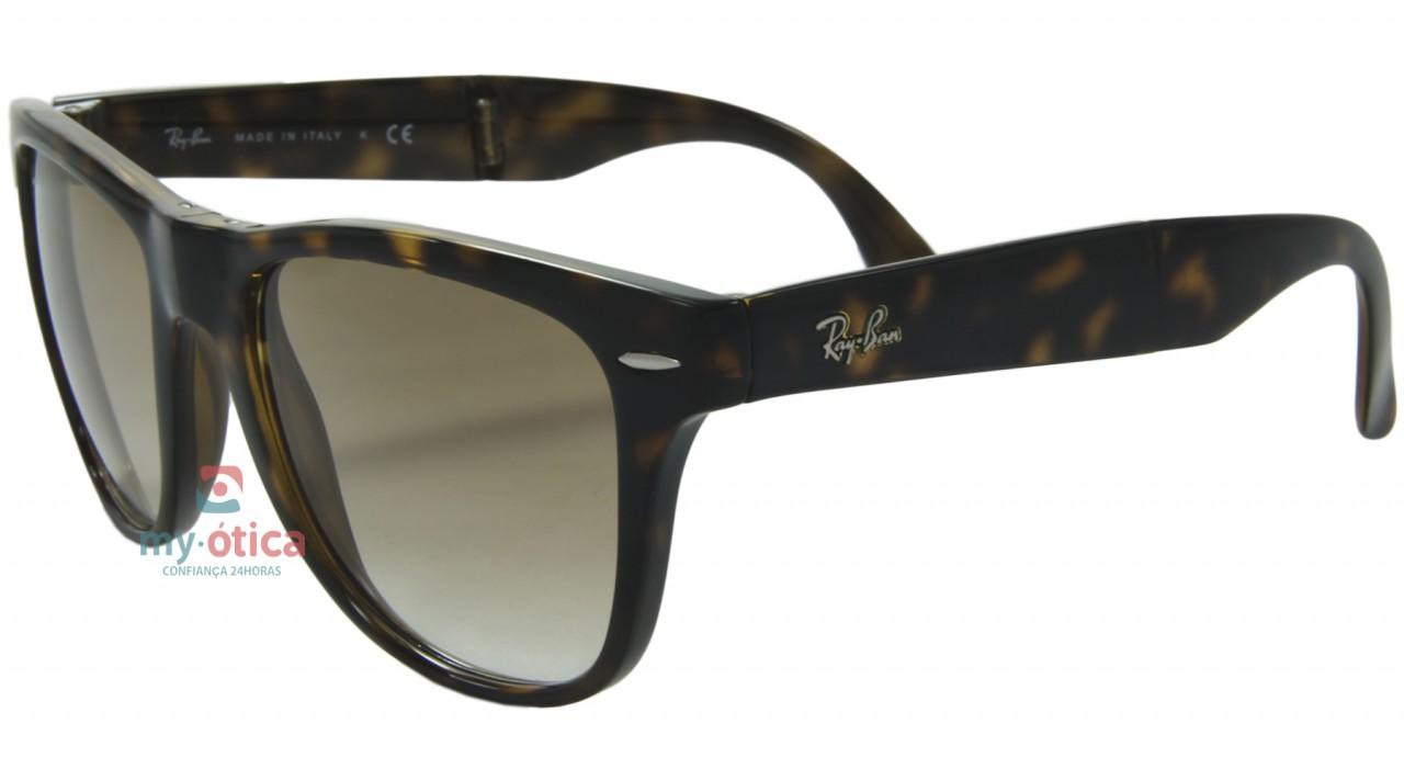 9c190ecee0f60 Óculos de Sol Ray Ban RB Wayfarer Folding - Havana - Óculos - Ray ...
