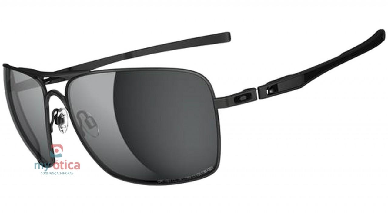 Óculos de Sol Oakley Plaintiff Squared - Preto Fosco Polarizado ... 5f6efaf463