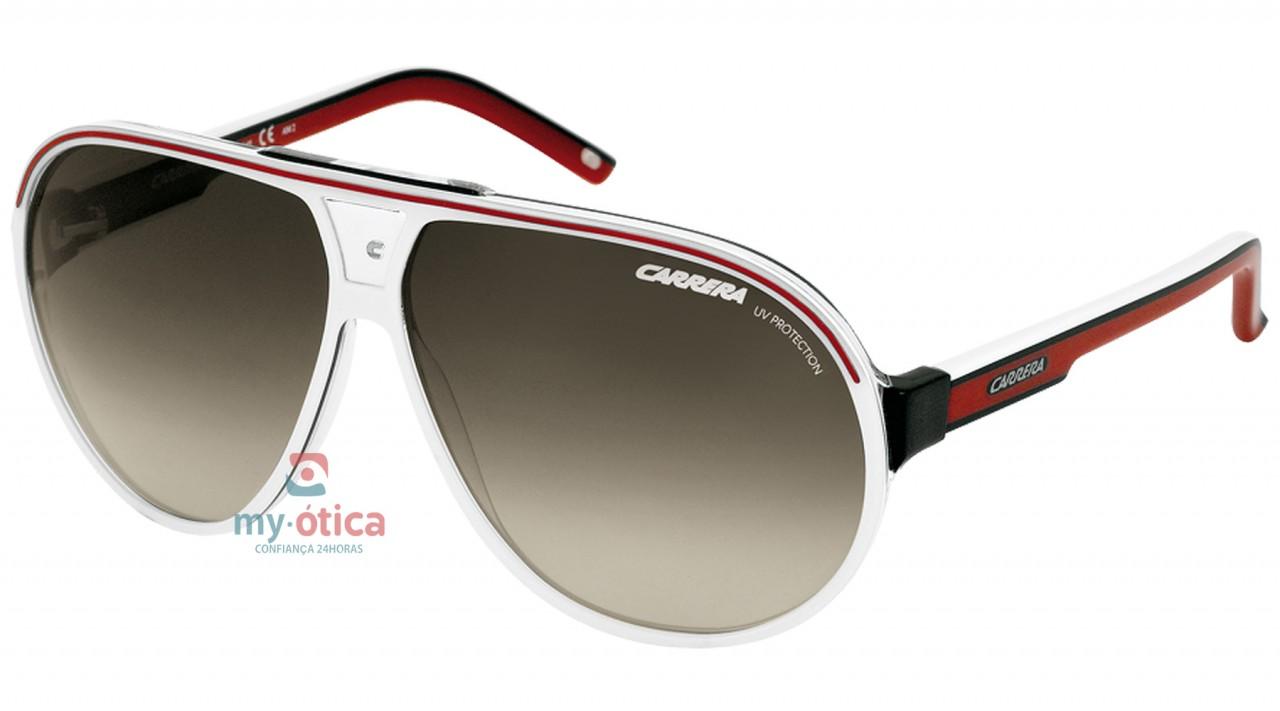 083d47542291e Óculos de Sol Carrera GRAND PRIX 1 - Branco e Vermelho - Loja ...