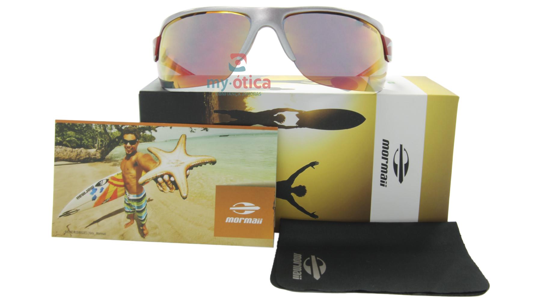 Óculos de Sol Mormaii Gamboa Air II - Prata e Vermelho - Óculos ... 82c2ad2b4c