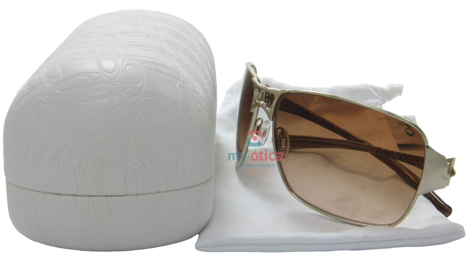 9a5e797cb4a28 Óculos de Sol Oakley Impatient - Dourado e Marrom - Óculos - Oakley ...