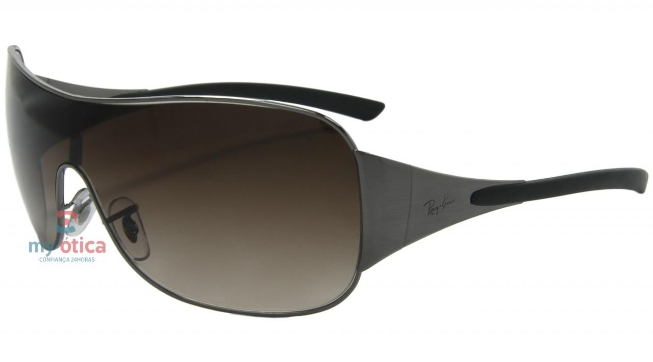 Óculos de Sol Ray Ban RB 3321 - Prata e Cinza Lente Marrom - Óculos ... a843a8099d