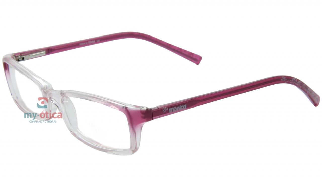 bf91ec084200f Óculos de Grau Infantil Turma da Mônica 6401 - Transparente e Rosa ...