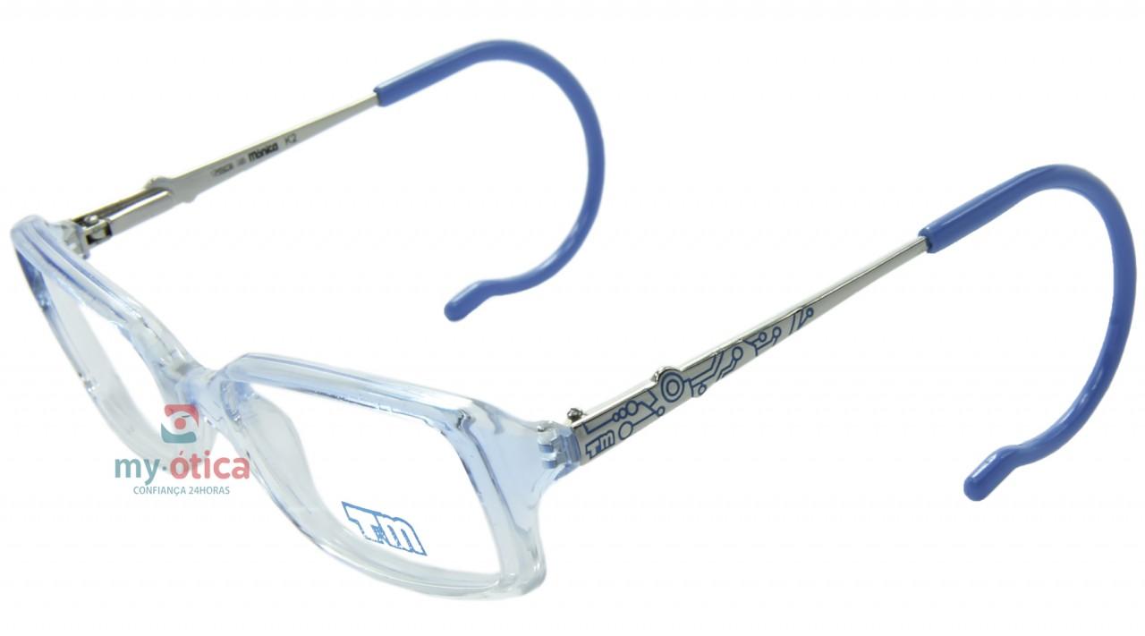 bafc2eca591b4 Óculos de Grau Infantil Turma da Mônica T93030 - Prata e Azul ...