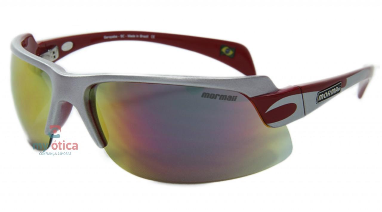 c70f2bc6f Óculos de Sol Mormaii Gamboa Air II - Prata e Vermelho - Óculos ...