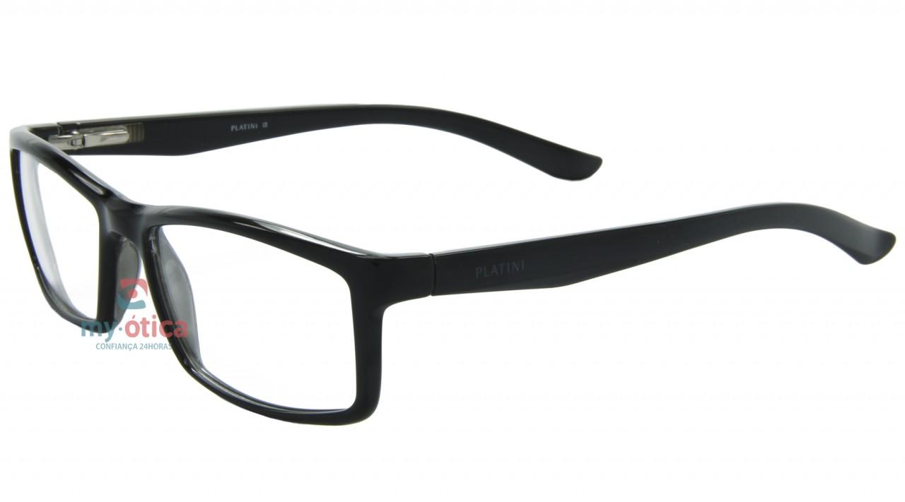bfd422eb74c20 Óculos de Grau Platini P93088 - Preto - Óculos - Platini - Platini ...