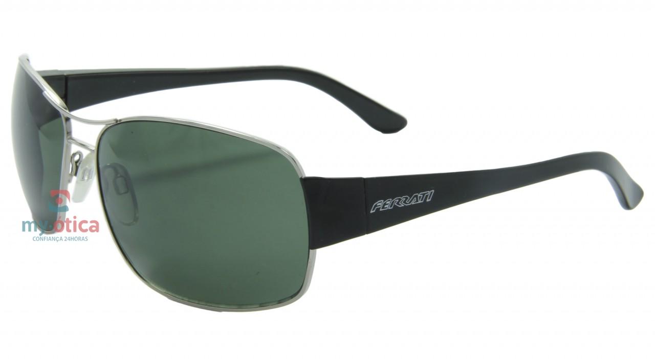 278da2715086d Óculos de Sol Ferrati 4432 - Prateado e Preto - Óculos - Ferrati ...