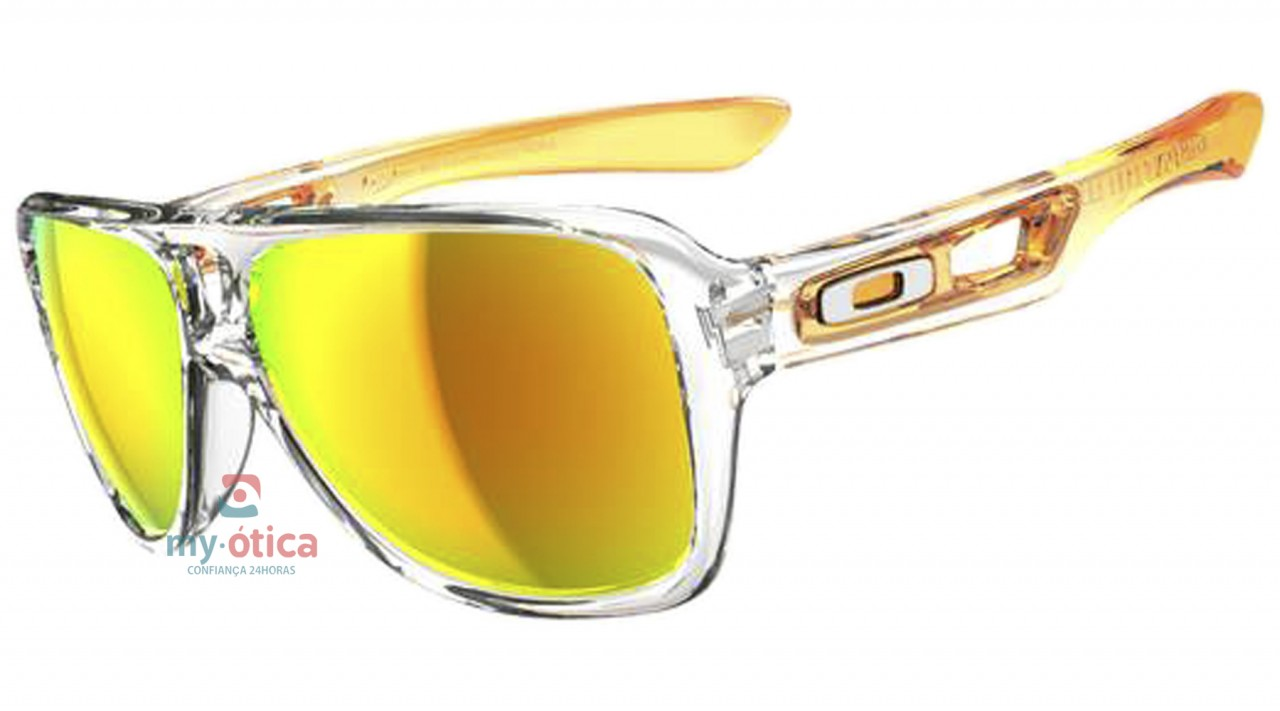 0df2bb66b2498 Óculos de Sol Oakley Crosshair Titanium - Transparente e Laranja ...