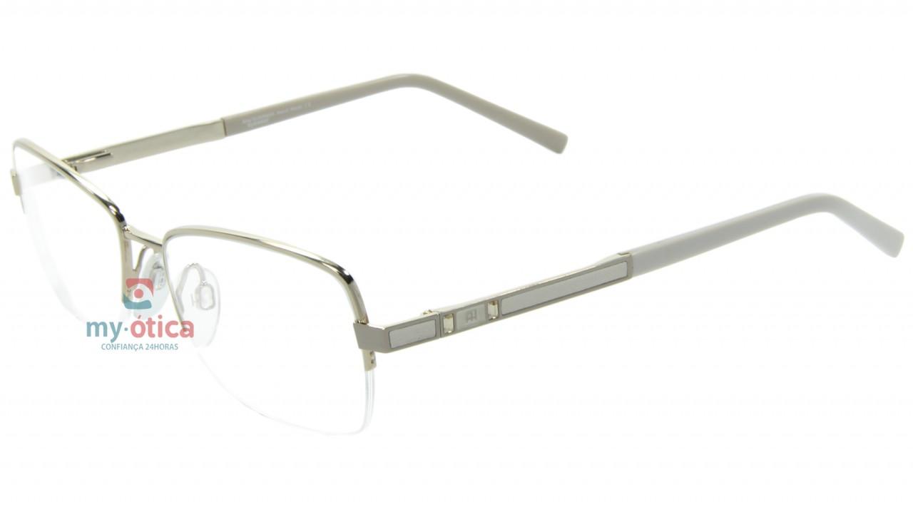 30317061e9393 Óculos de Grau Ana Hickmann AH1219 - Dourado e Bege - Óculos - Ana ...