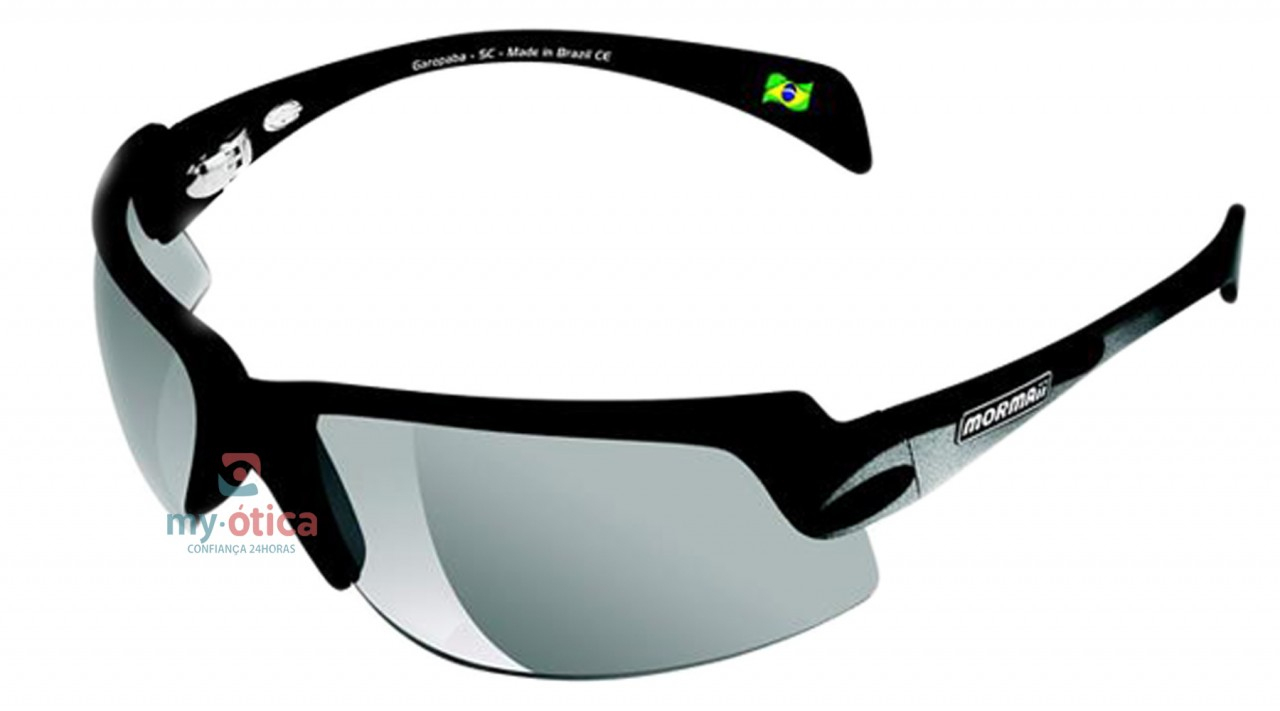 Óculos de Sol Mormaii Gamboa Air II - Preto Fosco e Prata - Óculos ... 1e1f1f3768