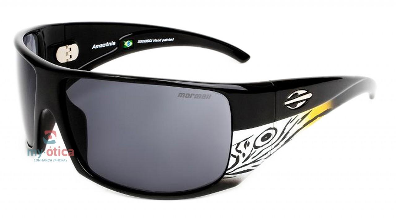 Óculos de Sol Mormaii Amazonia - Preto E Branco Arara - Óculos ... f34874c0b0