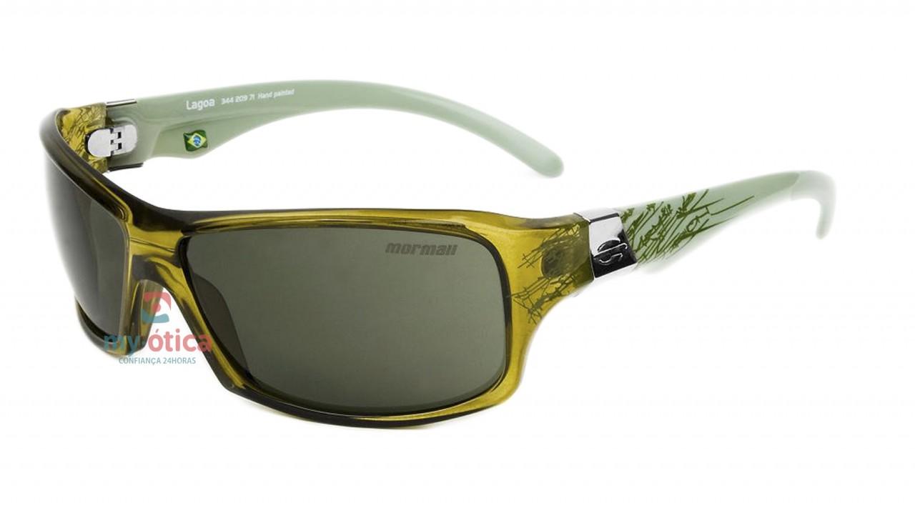 086478d64c986 Óculos de Sol Mormaii Lagoa - Verde e Branco Translúcido - Óculos ...