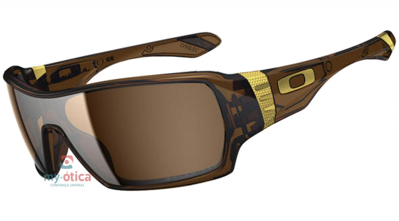 be26af6d57a70 Óculos de Sol Oakley Offshoot - Marrom e Dourado Polarizado - Óculos ...